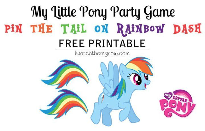 This post may contain affiliate links. Please see our disclosure policy here.Here's a fun game for your My Little Pony party: pin the tail on Rainbow Dash! The bright rainbow tail is so fun and the kids will love it! It was the perfect game for our My Little Pony third birthday party starring...