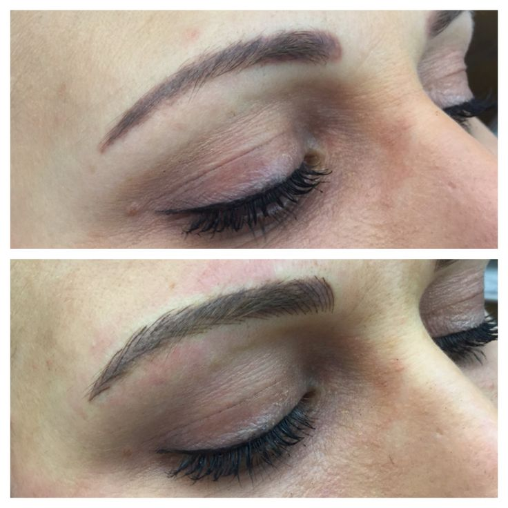 Correcting the colour and shape of an existing brow tattoo