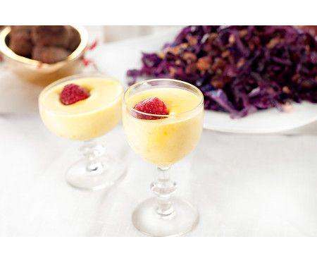 Saffrans- och citronpannacotta