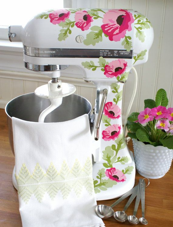 Pink Poppies Kitchenaid Decals by HensinDaisies on Etsy