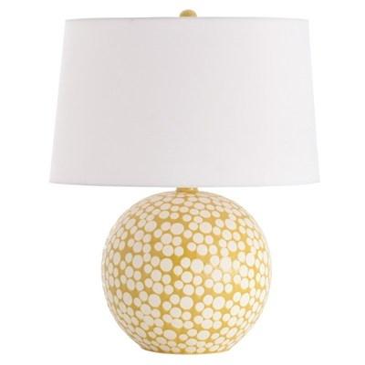 {Chic + Cheerful} Arteriors Zoey Mustard Dot Porcelain Table Lamp #laylagrayce #lighting #arteriors: Matte White Mustard, Dot Porcelain, Zoey Mustard, Table Lamps, Living Room, Dots, Arteriors Zoey, Mustard Dot