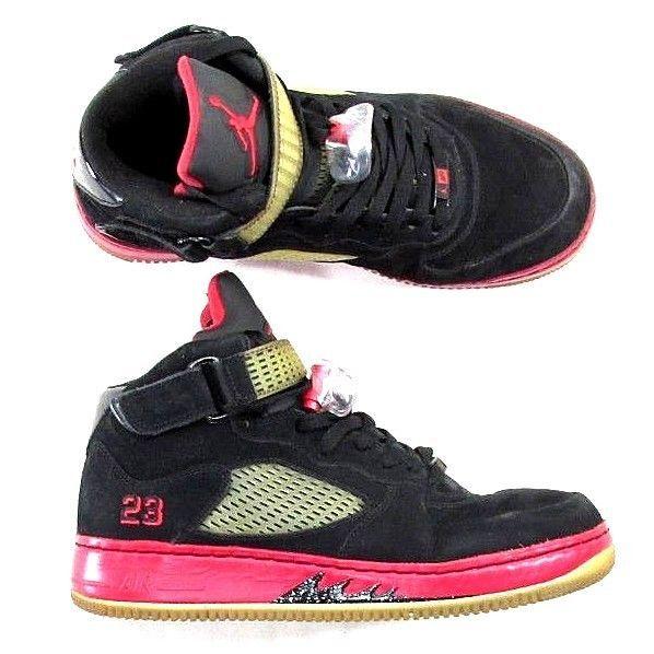 online retailer 2a6f4 27d53 Nike Air Jordan Men s Size 10 AJF 5 Retro Fusion 318608-062 Black Red Shoes   S10  Nike  AthleticSneakers