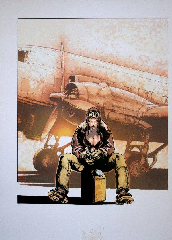 Olivier Vatine : Angela, Avion