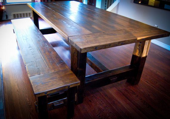 17 Best Images About Dining Table With Bench On Pinterest