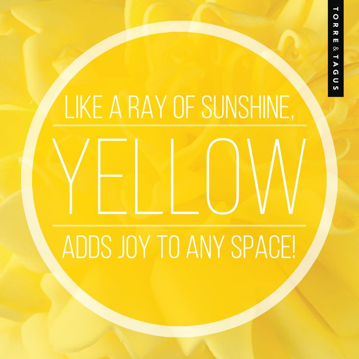 Bring a ray of sunshine in your home with bright Yellow accessories! #TorreAndTagus #ColourQuote #Yellow #ColourYourHome