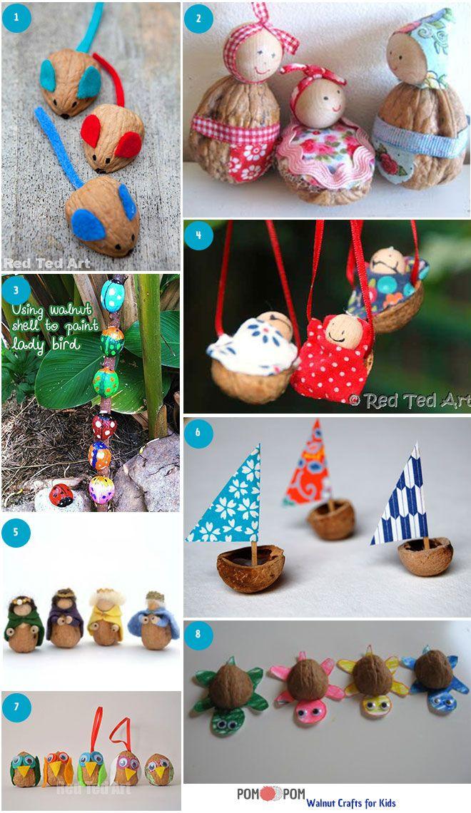 Walnut Crafts for Kids!