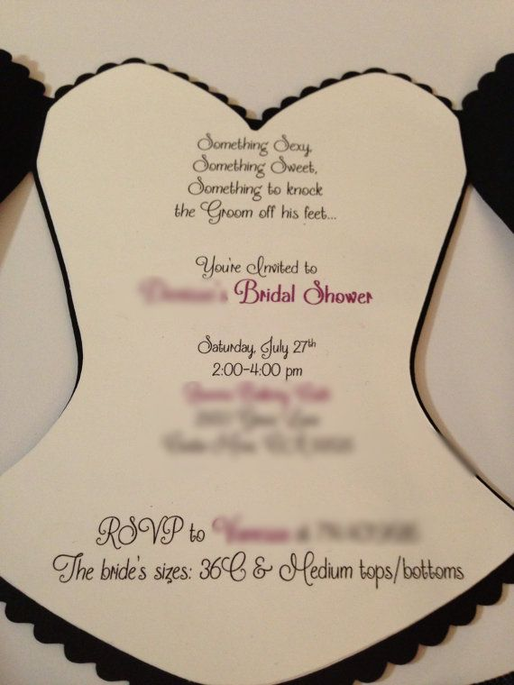 Corset Lingerie Invitation  Bachelorette Party by JJsPersonalTouch, $3.50