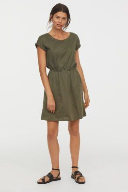 3c0673bbc23a Jersey Dress Model Khaki Green