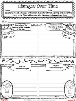 Freebie! This resource contains a lesson for both reading and writing workshops on how and why characters change over time. It also includes a printable graphic organizer and thinkmark for assessment.