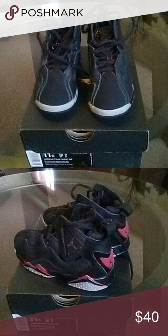 Little girls Jordan True Flight 8/10 condition I accept offers Jordan Shoes Sneakers