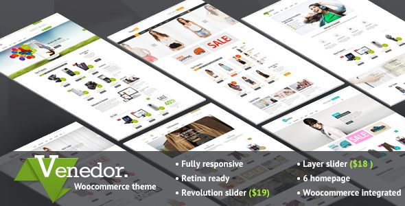 Venedor - Ultimate Multi Purpose WordPress Theme for Business, Portfolio, Blog & eCommerce Sites