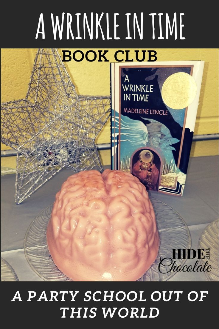 Twinkle star lights, chalk nebulae, liverwurst sandwiches, and a jello brain were just some of the interesting things that made up A Wrinkle in Time Book Club this month.