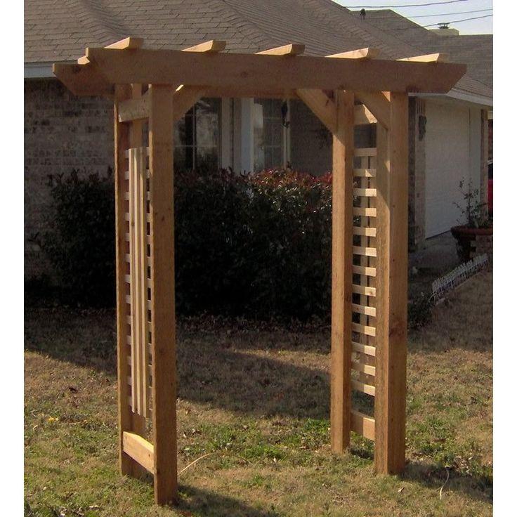 Deluxe Classic Wood Arbor Outdoor Pergola Wood Arbor Garden Arches