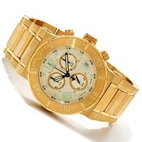 Invicta Ocean Reef--model 6757-3YB--I find it to be very unique all gold watch with a champagne dial.: Reefmodel 67573Yb