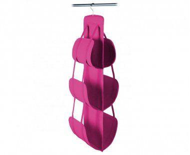 Colgador de bolsos para armarios. Rosa. Dim.105 x 30 x 30 cm
