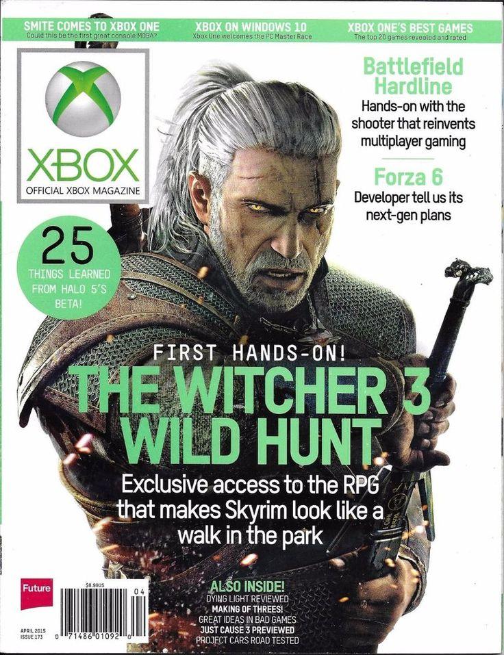X-Box magazine The Witchunter Wild Hunt Battlefield Hardline Forza Halo Windows