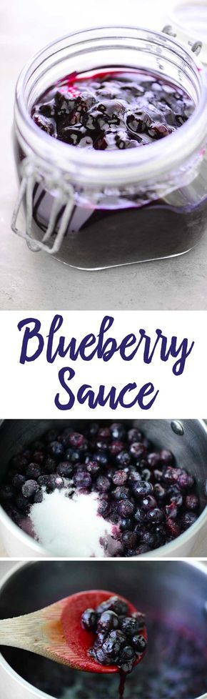 This Blueberry Sauce recipe is easy to make and so delicious on everything from ice cream to pancakes. You can use fresh or frozen blueberries.