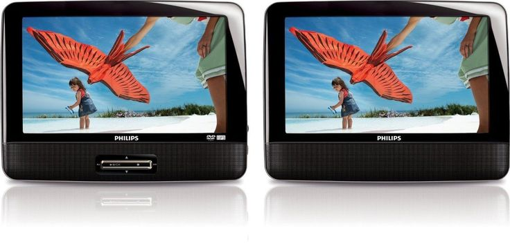 Philips PD9012/37 - 9-inch LCD Dual Screen Portable DVD Player - Black (Certi...