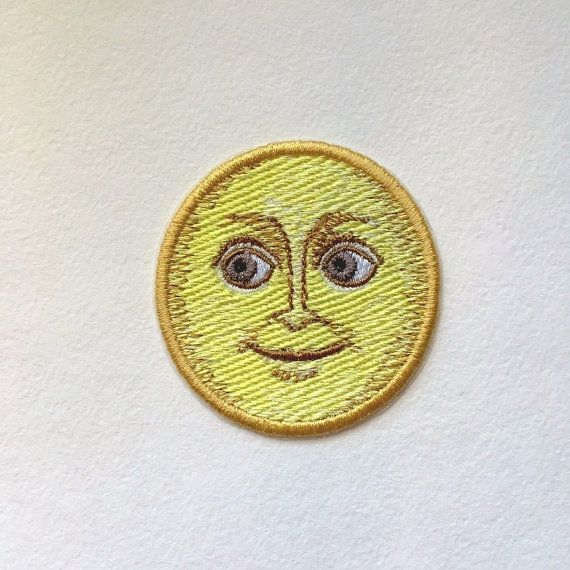 Full Moon Face Emoji Patch, machine embroidery. ============================ Shipping from Russia to another country normally takes about 20-30 days (sometimes less or more). Ready to ship in 3-5 business days. While choosing a payment option, please, select PayPal. PayPay allows you