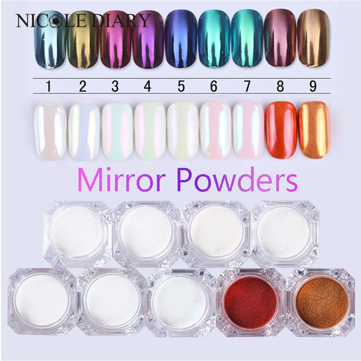 BUY now 4 XMAS n NY.  9 Colors Optional Mirror Powder Gold Blue Multi Color Manicure Nail Art Glitter Chrome Pigment  * Just click the VISIT button to view the details on  AliExpress.com