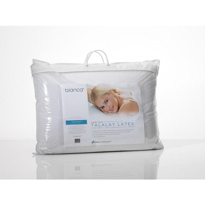 Sleep Easy Talalay Latex Pillow - High Profile/ Medium Feel by Bianca