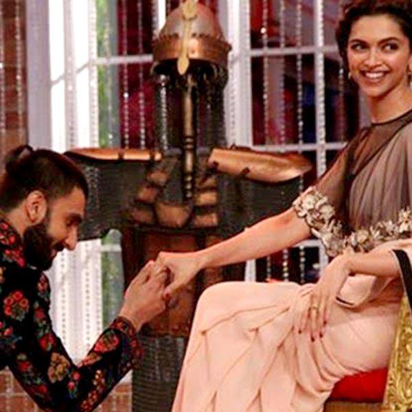 Ranveer Singh and Deepika Padukone on sets of  Comedy Nights with Kapil