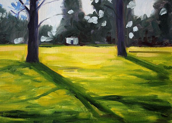Tree Shadows Oil Painting by Nancy Merkle; Original and Fine Art Reproduction Prints and Posters for Sale