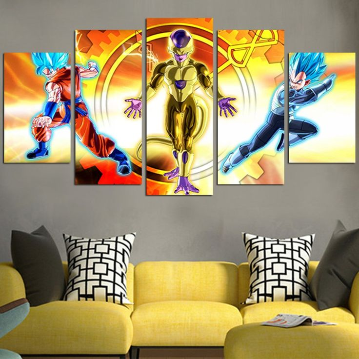 Dragon ball z goku vegeta vs frieza wall art canvas