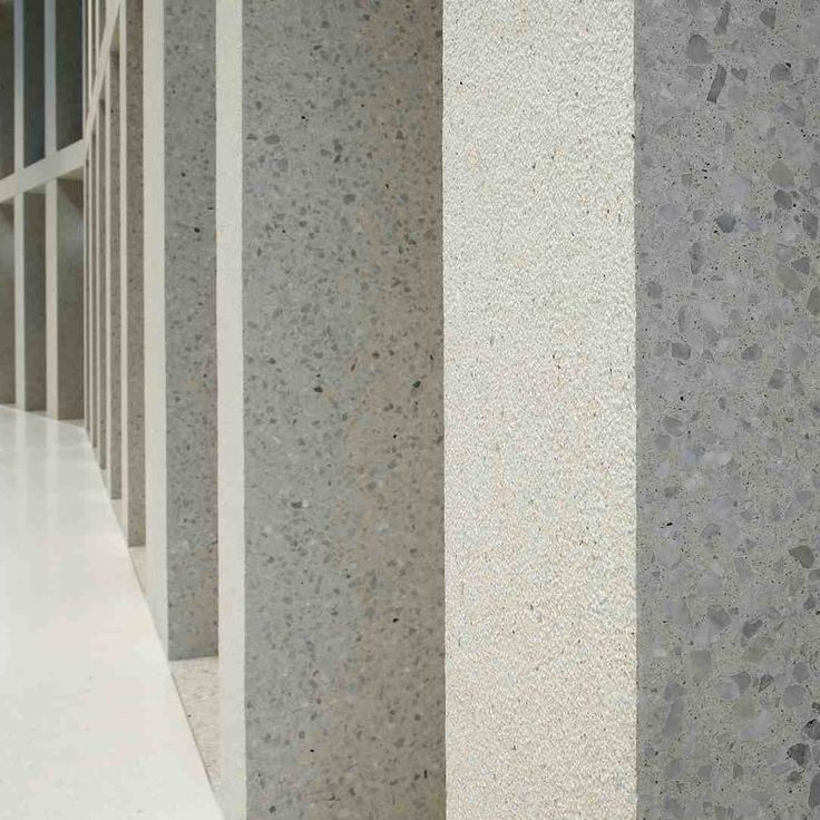 Precast concrete cladding / smooth / polished / panel GROUND SURFACES Hering Bau GmbH + Co. KG