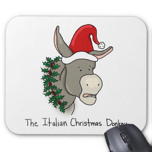 Dominick the Italian Christmas Donkey Mouse Pad