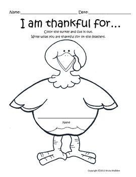 Thanksgiving Freebie! I Am Thankful Writing #Christmas #thanksgiving #Holiday…
