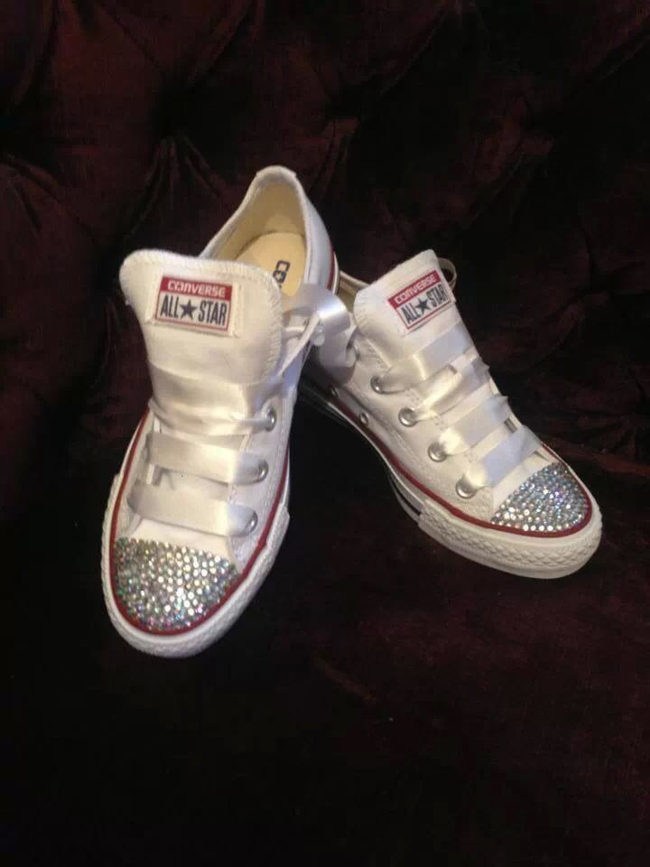 Diamonds ribbon converse all stars