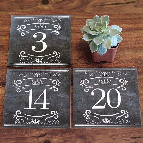 Free Printables: Chalkboard Table Numbers • DIY Weddings Magazine