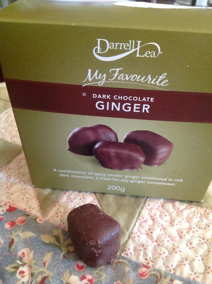 Mmmm, Darrell Lea Chocolate Coated Ginger. My Favourite. Purely Medicinal