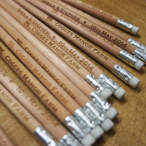 Pencil Us In Engraved Wooden Pencils