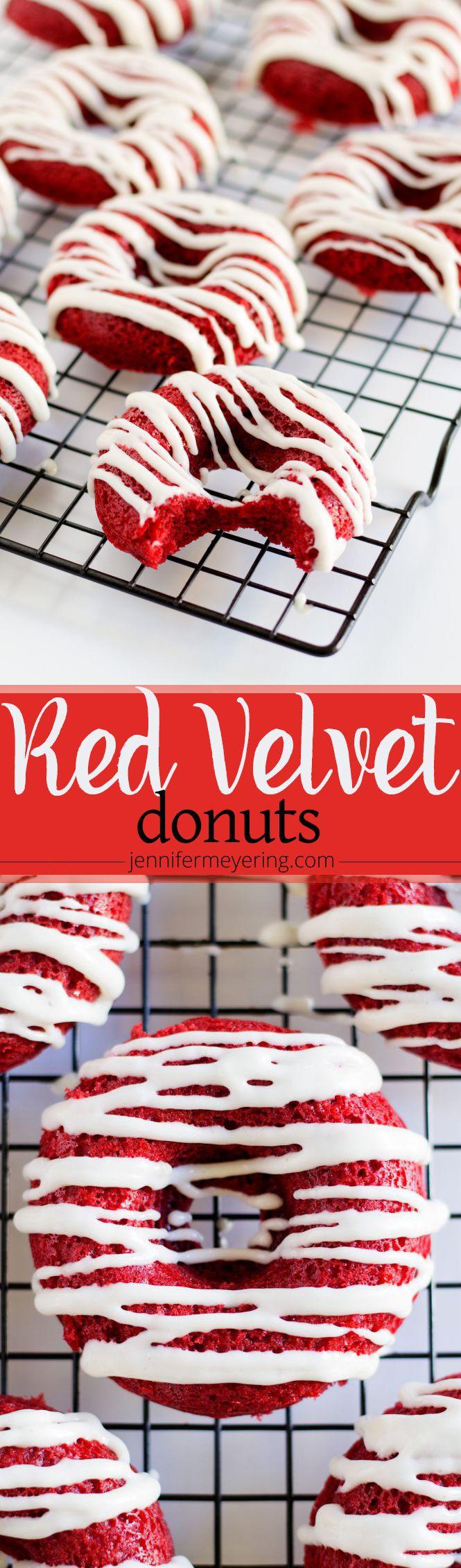 Red Velvet Donuts -- JenniferMeyering.com