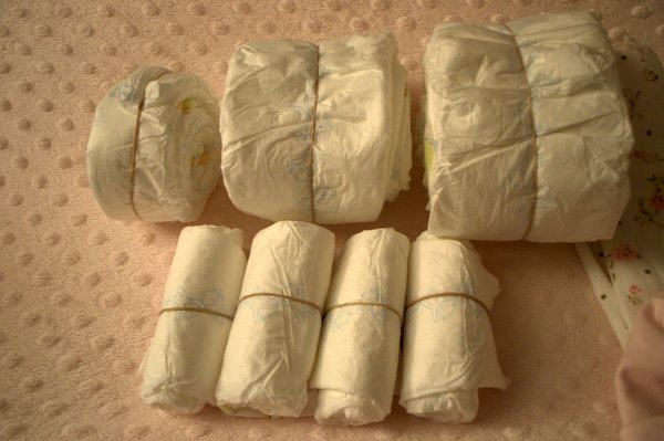 DSC 0686 DIY Sleeping Baby Diaper Cake