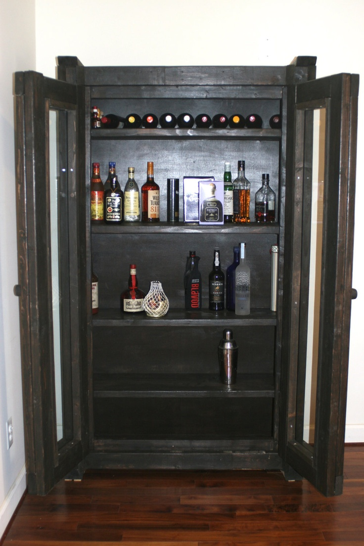Liquor Cabinet Rustic China Cabinet Cabinet Dining