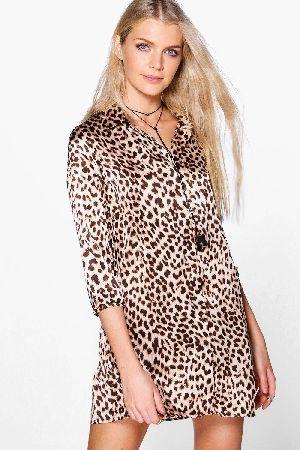 #boohoo Leopard Print Shift Dress - multi DZZ62307 #Amada Leopard Print Shift Dress - multi