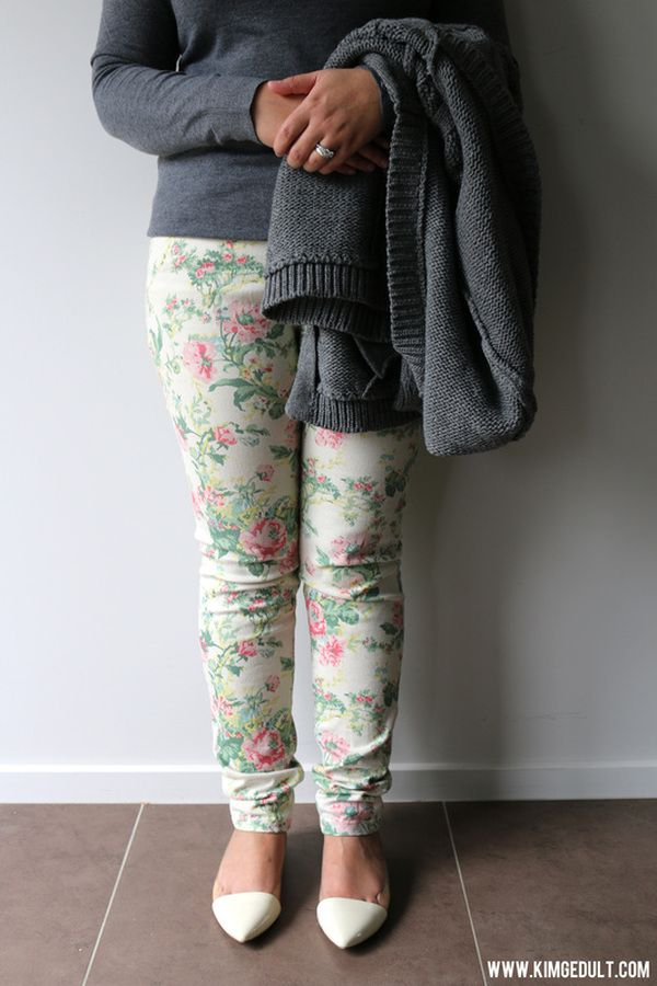 Floral pants! Have fun with fashion :)