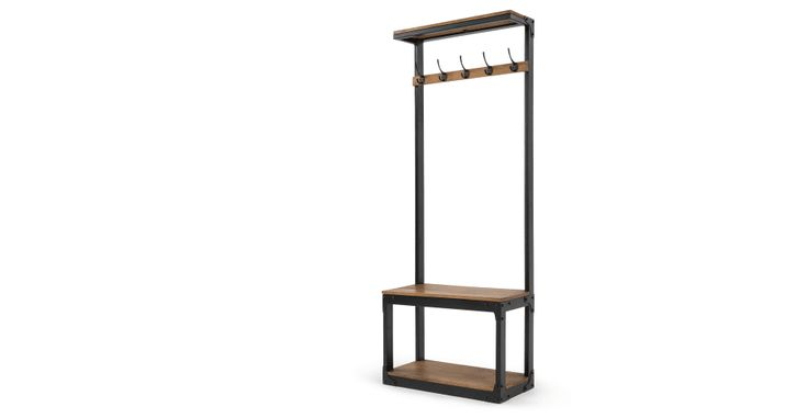 Layne Hall Stand, Black and Mango Wood | made.com