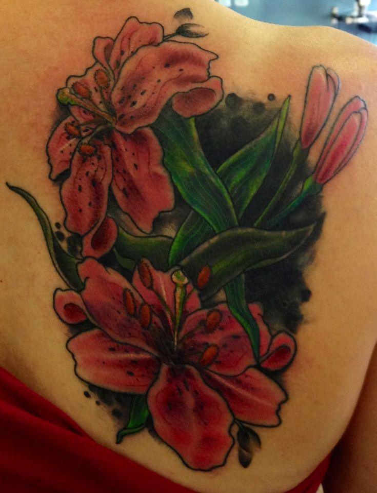 Stargazer Lily Flower Tattoo Designs: #stargazer #lily # Tattoo (With Images)