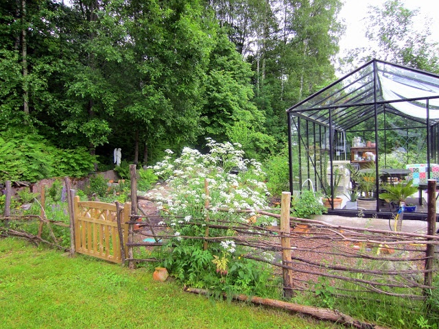 My greenhouse garden. The garden is a work in progress...