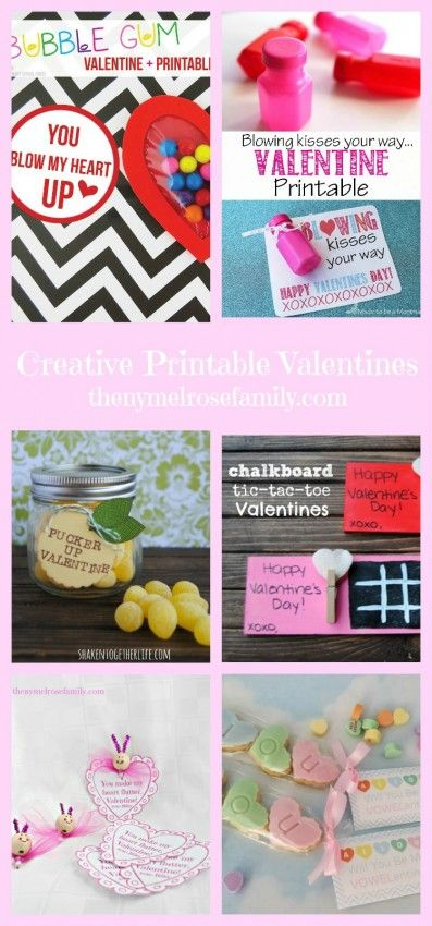 Creative Printable Valentines | The NY Melrose Family