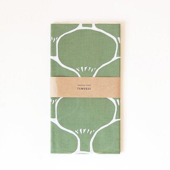 手ぬぐい木もようTenugui Japanese  Cotton Towel Fabric by itsukonaka