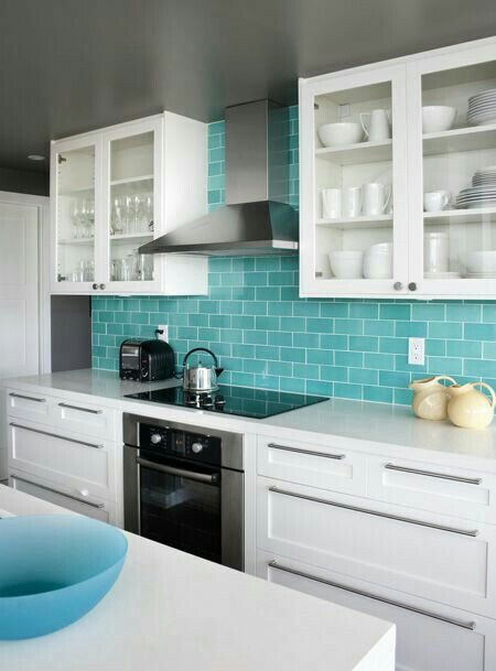 I love love love the tiffany blue subway tiles