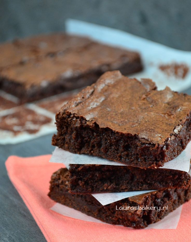 Smeuïge chocolade brownies - Laura's Bakery