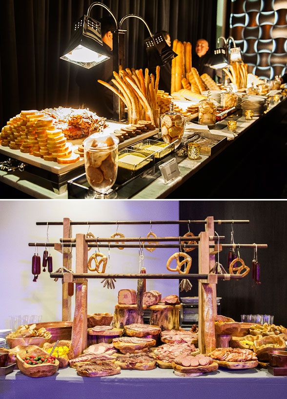 Several food stations provide fun dinning experience for the guests.