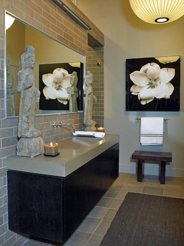 50 best double sink bathroom ideas images on pinterest - Zen office decorating ideas ...