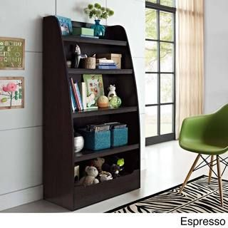 @Overstock.com.com - Kids 4-shelf Bookcase - Keep a child's room neat and tidy with the help of this versatile bookcase. In a dark espresso or white finish, the bookcase features four open shelves plus a semi-enclosed compartment on  the bottom to hold toys, games, sports equipment, books and more.  http://www.overstock.com/Home-Garden/Kids-4-shelf-Bookcase/8419686/product.html?CID=214117 $109.53